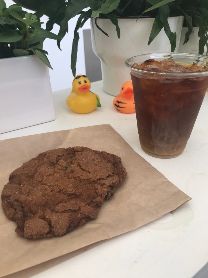 Gertie's coffee and cookie