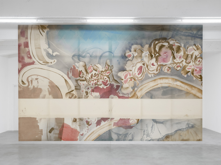 Installation view of Southern Garden of the Château Bellevue by Matthew Lutz-Kinoy