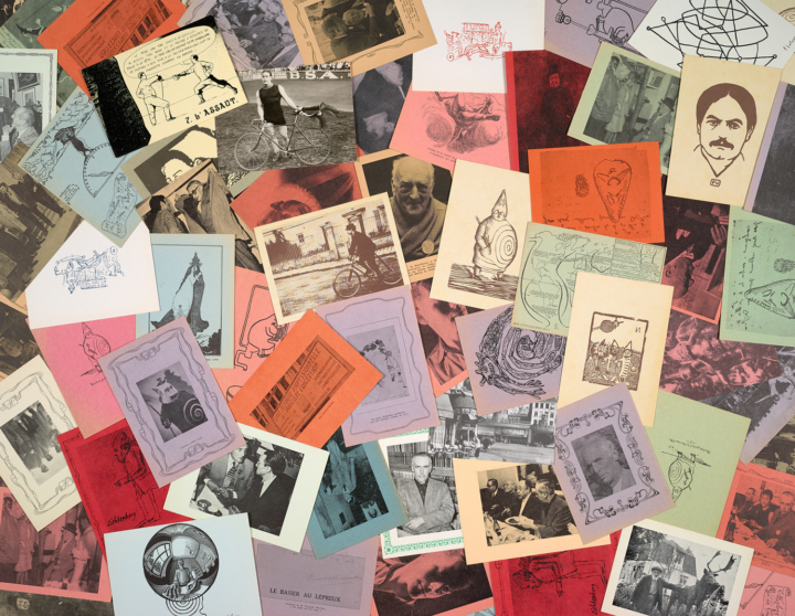 Postcards from Harald Szeemann's collection of 'pataphysics material