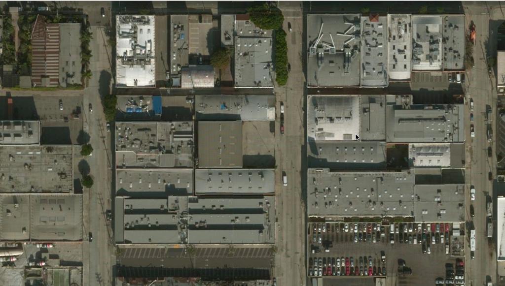 Bing Satellite image of Matthew Marks Gallery, Los Angeles.