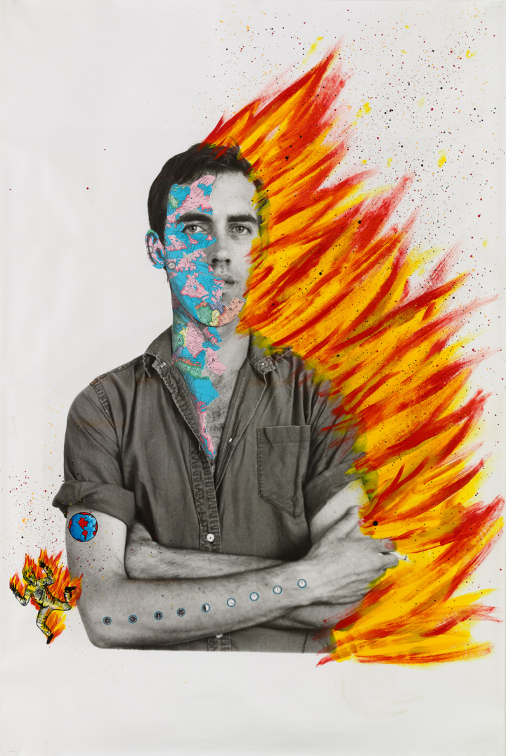 David Wojnarowicz with Tom Warren, Self-Portrait of David Wojnarowicz, 1983–84