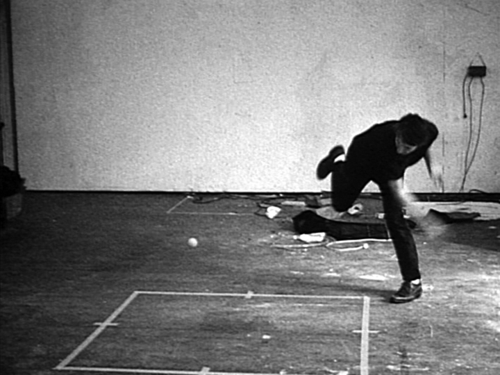 Bruce Nauman, Bouncing Two Balls Between the Floor and Ceiling with Changing Rhythms, 1967–68