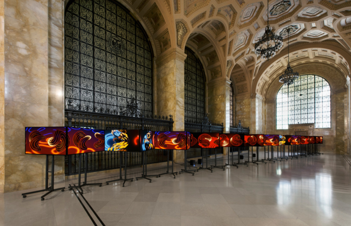 Philip Vanderhyden, Volatility Smile 3, 2018, installation view at Federal Reserve Bank of Cleveland
